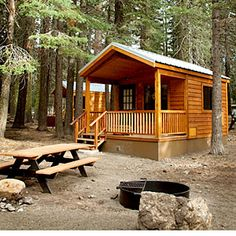 37 best cabin getaways | Manzanita Lake Camping Cabins, Lassen Volcanic National Park, CA | Sunset.com