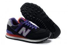 Moda Hombre New Balance 574 Zapatillas Negro P rpura Rojo Baratas Online  New Balance Shoes 599d06dd36d