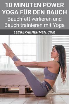 Hier findest du unser Power Yoga für den Bauch. Der Trainingsplan enthält effektive Yoga Übungen, mit denen du die Bauchmuskeln trainieren und Bauchfett verlieren kannst. Fitness Workouts, Pilates Workout, Yoga Fitness, Fitness Motivation, Pilates Training, Sport Fitness, Fitness Wear, Fitness Nutrition, Motivation Quotes