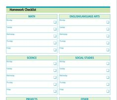 Help your kids get their work done with  this homework tracker from our friends at schoolfamily.com