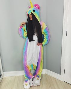 Rainbow Unicorn Onsie is gunna help ya get sum shut-eye after a not-so-cute day! Pyjamas, Onesie Pajamas, Cute Pajamas, Unicorn Fashion, Unicorn Outfit, Unicorn Clothes, Lazy Day Outfits, Girl Outfits, Fashion Outfits
