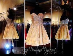 Strapless Champagne Short Dress