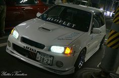 """regram @akirrrrrrrrrraa #glanza #starlet  #ep91 #toyota #bluelet #スターレット"" Jdm, Toyota Starlet, Toyota Tercel, Motor Car, Cars And Motorcycles, Motors, Racing, Bike, Vehicles"