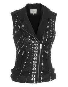 Black Studded Leather Vest! I am in LOVE with this. I love that punk look. :)
