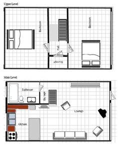 A frame floorplan