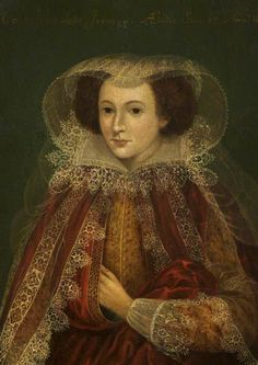 """""""Catherine Killigrew, Lady Jermyn, in the 35th Year of Her Age"""", after Marcus Gheeraerts the younger, 1614; Bury Art Museum 0626:1949"""