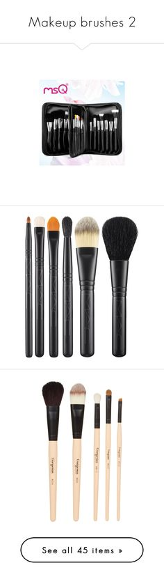 """""""Makeup brushes 2"""" by thelyricsmatter ❤ liked on Polyvore featuring beauty products, makeup, makeup tools, makeup brushes, white, mac cosmetics kit, mac cosmetics, mac cosmetics makeup, beauty and fillers"""