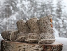 Warm booties for baby
