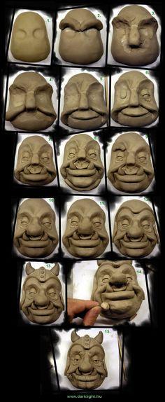 ClayGoblin making by DarkMask.devianta… on Sculpture Techniques, Ceramic Techniques, Pottery Techniques, Ceramic Mask, Ceramic Clay, Ceramic Pottery, Sculptures Céramiques, Sculpture Clay, Clay Projects