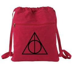 Deathly Hallows Backpack Harry Potter Red by bagnabitcreations, $17.00