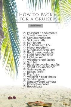 Packing List for Cruises