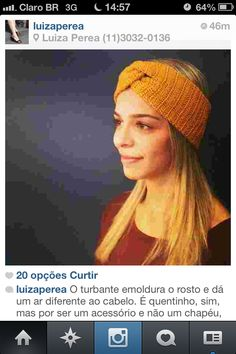 knit turban / turbante de tricô Olha mommy faz para mim???