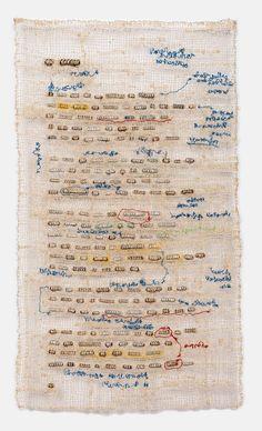 Marginalia #1 by Lisa Kokin - Zippers, thread, 16.5 x 9.5 inches, 2014