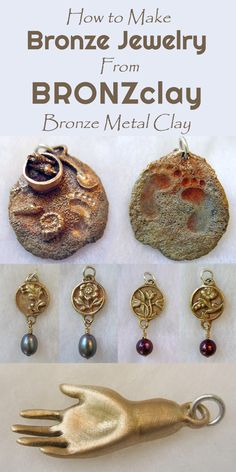 BRONZclay Bronze Clay (Bronze Metal Clay) - a detailed guide that includes expert tips on conditioning, making secure joins, firing, troubleshooting, finishing and more, with lots of eye candy from top artists.
