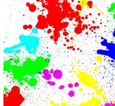 Colorful colored stains blots