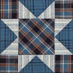 woven plaids & stripes star quilt block, by becky brown, on barbara brackman's civil war quilts blog
