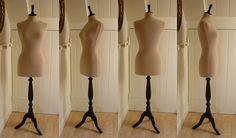 Full Size Vintage Style Corset Laced Display Mannequin Dressform - Biscuit. £100.00, via Etsy. To display my wedding dress at home