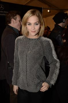 Leigh Lezark wearing the Artelier by Nicole Miller Knit Bunny Sweater at the Nicole Miller Fall'13 Runway Show