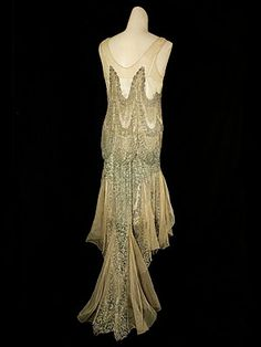 1920s Clothing At Vintage Textile 2430 Lace Flapper Dress Celebrity | Trending Picture