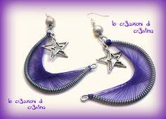 le cr3azioni di cr3stina - gioielli artigianali: Ciondoli e orecchini tecnica peruviana
