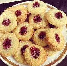 Coconut Nests – cookingbakingandstuff Coconut Recipes, Sweet Meat Recipe, Lemon Chiffon Cake, Coconut Biscuits, Vanilla Essence, Strawberry Jam, Biscuit Recipe, Nests, Crack Crackers