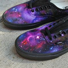 c1892975b4 Personalized Vans Authentic custom galaxy sneakers