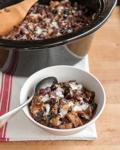 Slow Cooker Recipe: Cheesy Panade with Swiss Chard, Beans & Sausage — Recipes from The Kitchn | The Kitchn