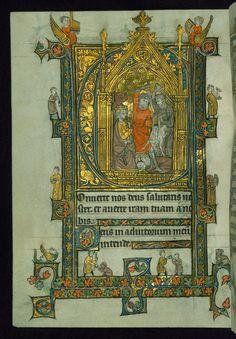 Book of Hours Marginalia Walters Manuscript W.104 fol. 45v by Walters Art Museum Illuminated Manuscripts