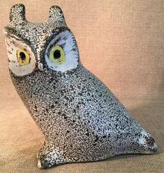 Beautiful Pigeon Forge 9 inch Art Pottery Owl D. Ferguson Speckled Glazing   eBay