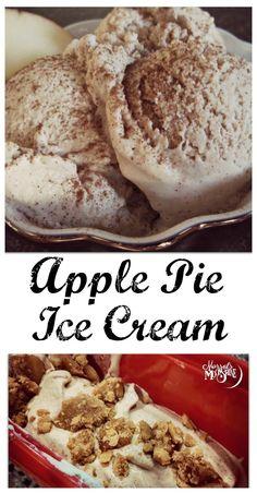 Apple Pie Ice Cream - Perfect for fall! #vegan #dairyfree