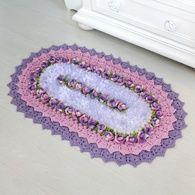 Receita • Tapete de Crochê Brinco de Princesa