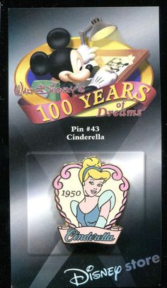 #43 100 Years of Dreams Cinderella 1950 Disney Pin 7683