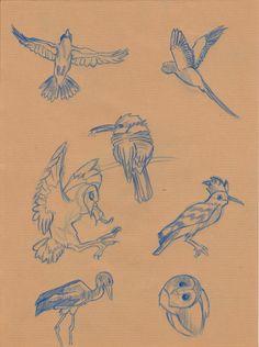 Birds by FannyCl.deviantart.com on @deviantART
