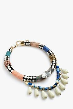 Combined Strass Necklace - necklaces | Adolfo Dominguez shop online