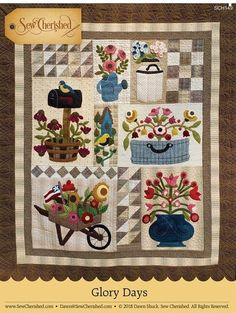 Glory Days Wool and Cotton Wall Hanging Glory Days Wool and Cotton Wall Hanging The post Glory Days Wool and Cotton Wall Hanging appeared first on Wool Diy. Aplique Quilts, Wool Applique Quilts, Applique Quilt Patterns, Wool Quilts, Cotton Quilts, Applique Wall Hanging, Hanging Quilts, Quilted Wall Hangings, Penny Rugs
