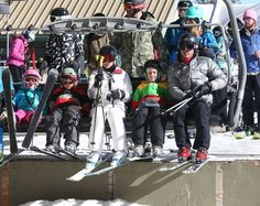 Gwen Stefani and Gavin Rossdale take their boys Kingston and Zuma skiing in Mammoth Lakes, California