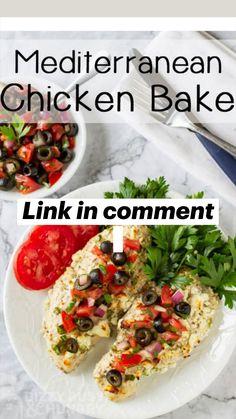 Mediterranean Chicken Bake, Mediterranean Recipes, Healthy Breakfast Recipes For Weight Loss, Healthy Recipes, Healthy Cooking, Cooking Recipes, Pork Recipes For Dinner, Olive Garden, Summer Salad Recipes