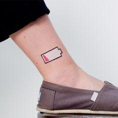 Set de 2 tatouages Low Battery de Christoph Niemann