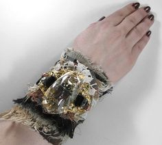 Steampunk Cuff - Neo Victorian Wrist Cuff - Adorned with Filigree GLA | edmdesigns - Accessories on ArtFire
