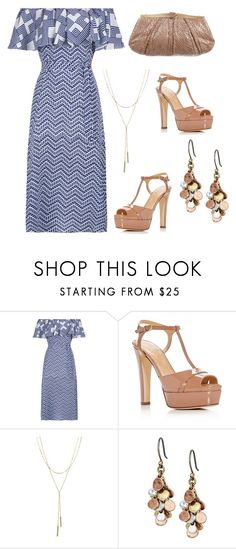"""Untitled #866"" by pinkpeony21 ❤ liked on Polyvore featuring Sergio Rossi, Bloomingdale's, Lucky Brand and Judith Leiber"