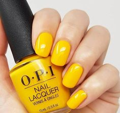 Bring in the cheer of Easter Sunday with cheerfully yellow nails #nailart #springnails #easter