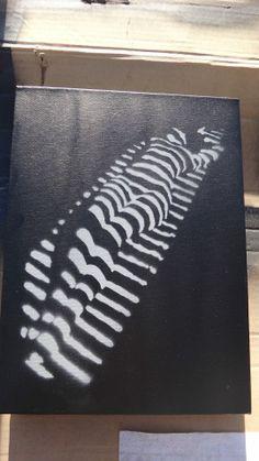 Fresh spray Stencil on canvas