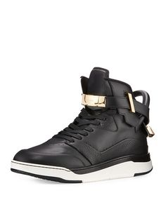 4bd8b837bff BUSCEMI B Court Leather High-Top Sneaker