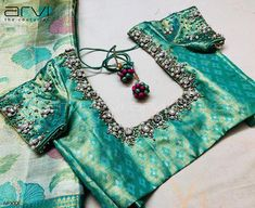 Embroidery for classy lovers Wedding Saree Blouse Designs, Pattu Saree Blouse Designs, Blouse Designs Silk, Designer Blouse Patterns, Hand Work Blouse Design, Kids Blouse Designs, Simple Blouse Designs, Sarees, Lehenga
