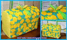 From My Blog: http://diet-coke-rocks.blogspot.co.nz  ... Lemon sewing machine cover, for my LEMON of a sewing machine.  Back to the repair shop over 12 times since I bought it.  Husqvarna 870 Quilt machine.  SO disappointed in it.  When it's being good, it's VERY GOOD.  When it's being bad... I want to throw it through the Retailer's window. Edit:  17th time back in the repair shop and they FINALLY decided to give me a brand new machine.  So I got a Brother Dreamweaver and I'm in love with…