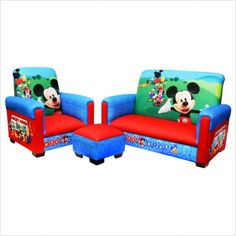 Kids Beds Childrens Bedroom Furniture Bunk Toddler Disney Mickey Mouse Club House 3 Piece Juvenile