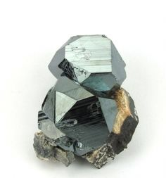 Hematite with Calcite - Wessels Mine, Kalahari MN fields, N. Cape Prov., South Africa