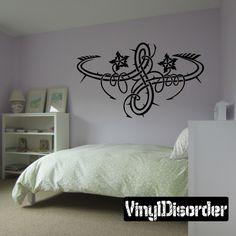 Monster Flower Wall Decal - Vinyl Decal - Car Decal - DC 8039