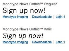 Monotype News Gothic Regular