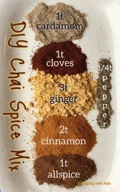 DIY Chai Spice Mix Your favorite spices, all mixed up and ready for your baking and making pleasure. This Chai Spice Mix would also make a fab gift! Homemade Spices, Homemade Seasonings, Homemade Chai Tea, Spice Blends, Spice Mixes, Tea Blends, Chai Tea Recipe, Chai Spice Mix Recipe, Chi Tea Latte Recipe